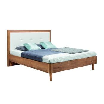 Pat dublu Mazzini Beds Scandi, 160 x 200 cm, alb