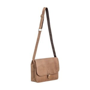 Světle hnědá kožená taška přes rameno Packenger Aslang