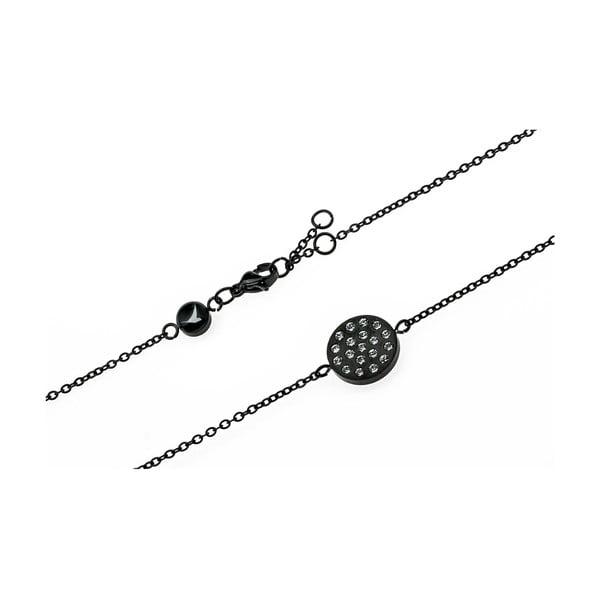 Černý dámský náramek z nerezové oceli Emily Westwood Crystal