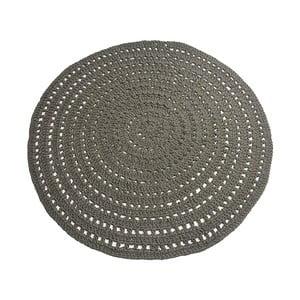 Tmavě zelený kruhový bavlněný koberec LABEL51 Knitted, ⌀150cm
