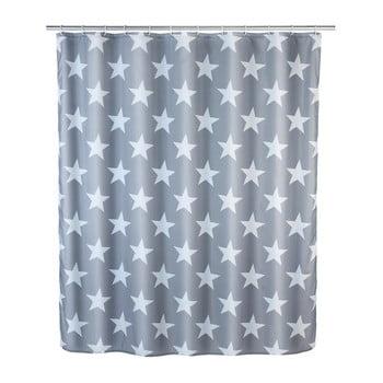 Perdea duș anti mucegai Wenko Stella, 180 x 200 cm, albastru imagine