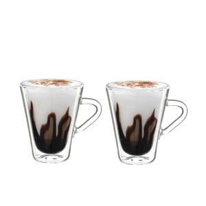 Set 2 pahare cu pereți dubli pentru espresso Bredemeijer, 105 ml
