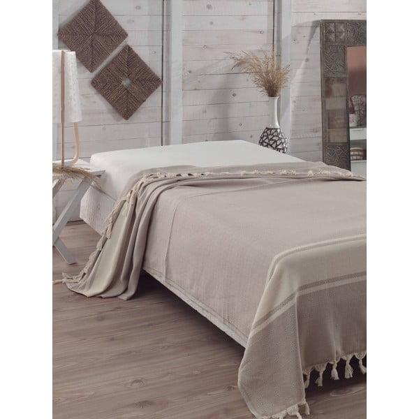 Přehoz přes postel Elmas Light Brown, 200x240 cm