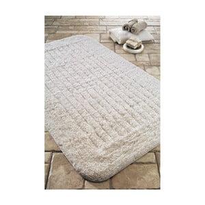Koupelnová předložka Cotton Stripe Ecru, 60x100 cm