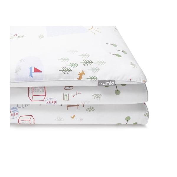Lenjerie de pat din bumbac Mumla Maps, 100 x 135 cm