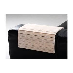 Suport pahar pentru canapea Rowico Armtray, alb mat