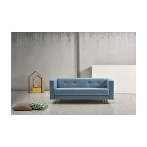 Modrá rozkládací pohovka Suinta Botton, šířka 176 cm