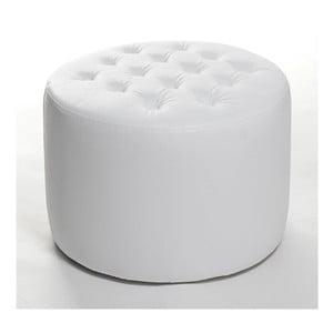 Sedací puf Bakero White z umělé kůže, 70x37 cm