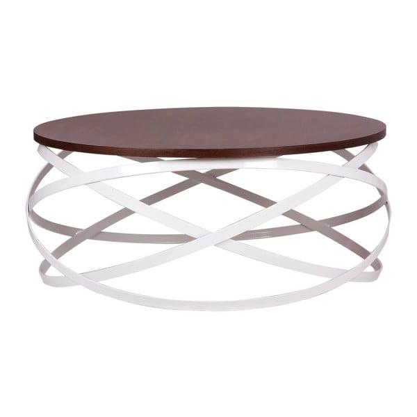 Konferenční stolek s dekorem tmavého dřeva ořešáku sømcasa Dario