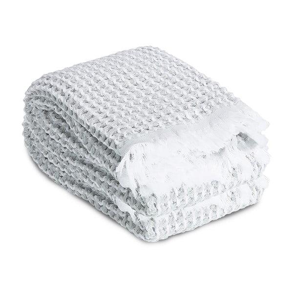 Sada 2 světle šedých vaflových ručníků Casa Di Bassi,65x100cm