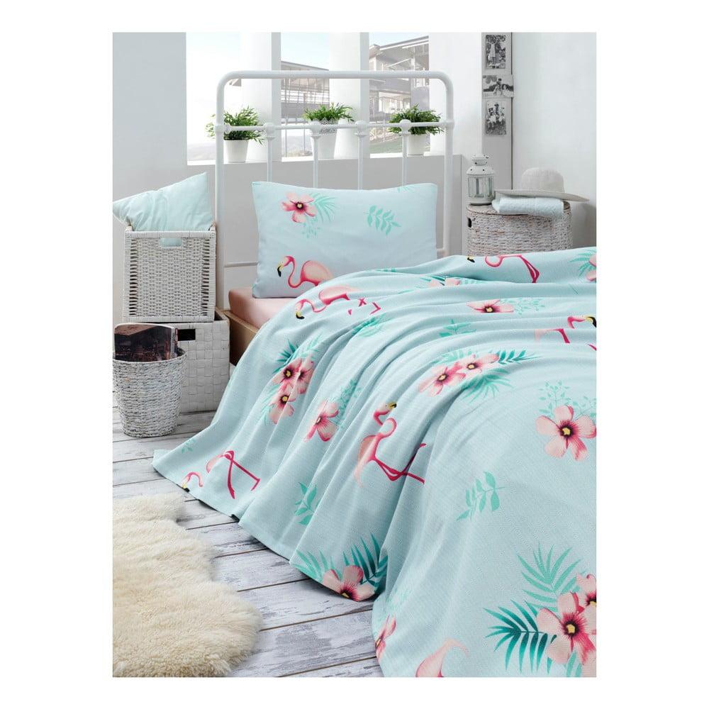 Set bavlněného lehkého přehozu přes postel, prostěradla a povlaku na polštář Missmo Russie, 160 x 235 cm