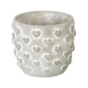 Květináč Concrete Hearts, 12,5x14,5x14,5 cm