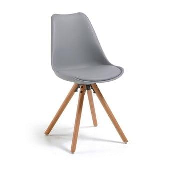 Scaun cu picioare din lemn de fag loomi.design Lumos, gri de la loomi.design