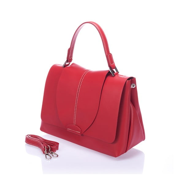 Červená kožená kabelka Giorgio Costa Mijoria