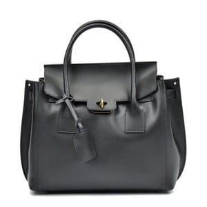 Černá kožená kabelka Luisa Vannini Nicol