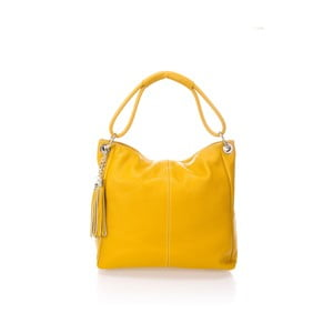 Žlutá kožená kabelka Lisa Minardi Retusa