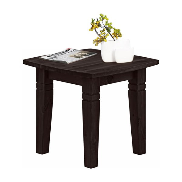 Tmavě hnědý konferenční stolek z masivního borovicového dřeva Støraa Tierra S
