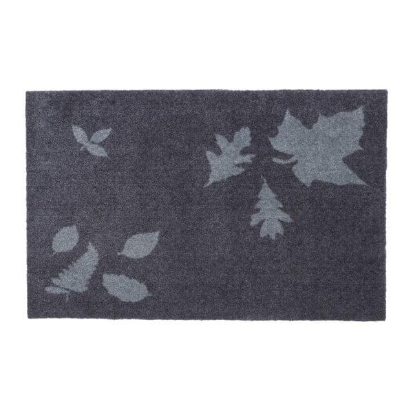 Covoraș intrare Tica copenhagen Mega Leafes, 60 x 90 cm, albastru-gri