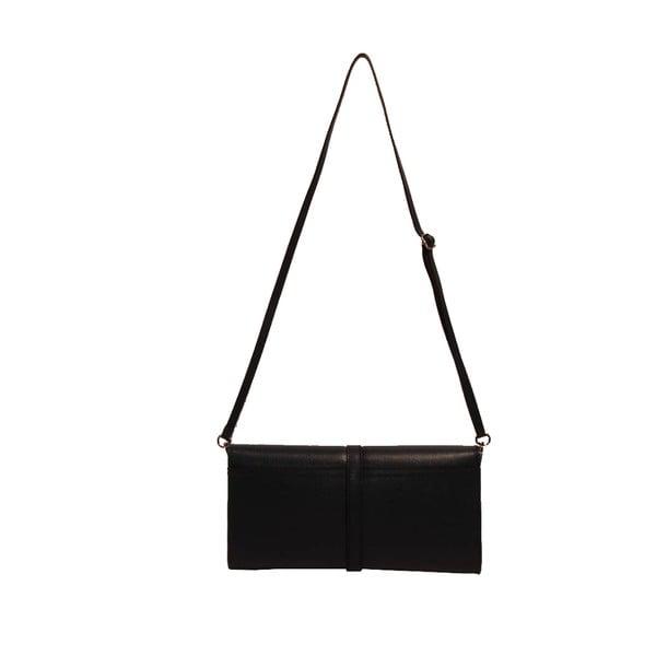 Černá kožená kabelka Andrea Cardone 1010