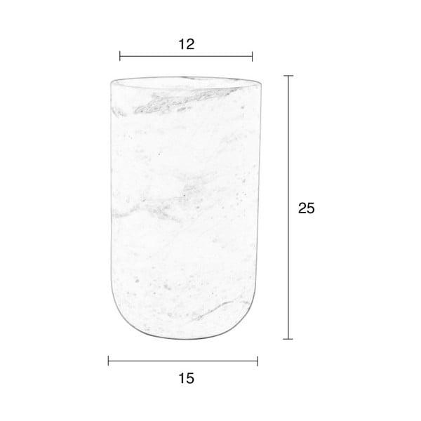 Bílá mramorová váza Zuiver Fajen