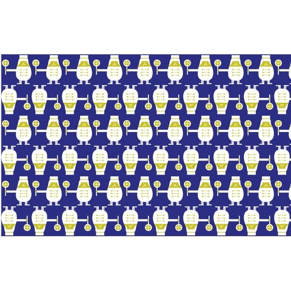 Vliesová tapeta Trains 270x46.5 cm, modrá