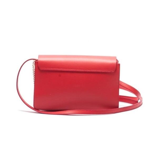 Kožená kabelka Mangotti 3038, červená
