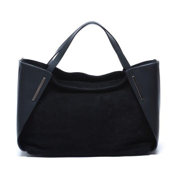 Kožená kabelka Mangotti 878, černá
