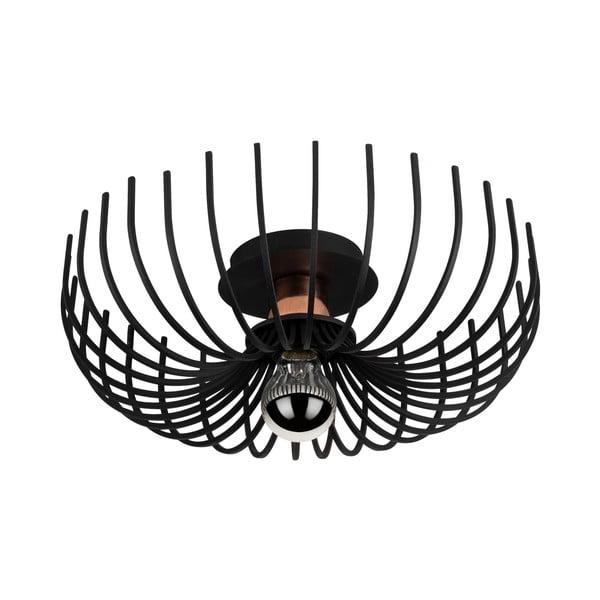 Čierne stropné svietidlo Opviq lights Aspendos, ø 36 cm