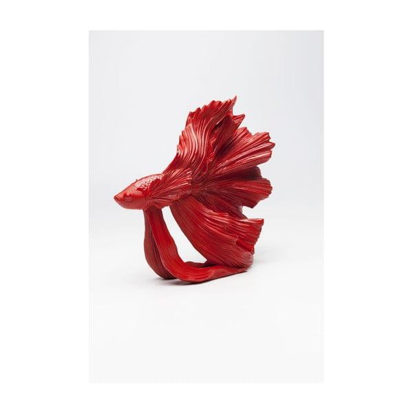 Červená dekorativní socha Kare Design Betta Fish