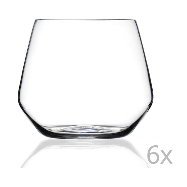 Ambra 6 darabos üvegpohár készlet - RCR Cristalleria Italiana