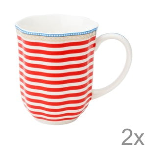 Porcelánový hrnek na kávu Happy od Lisbeth Dahl, 2 ks