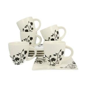 Sada 6 porcelánových hrnků s podšálky Duo Gift Porto, 170 ml