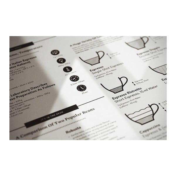 Plakát Espresso Black/White, 50x70 cm