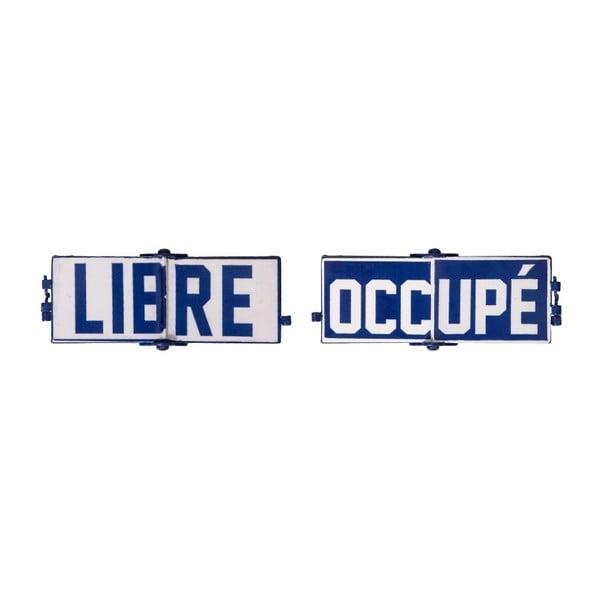 Plechová cedule Antic Line Libre Occupé