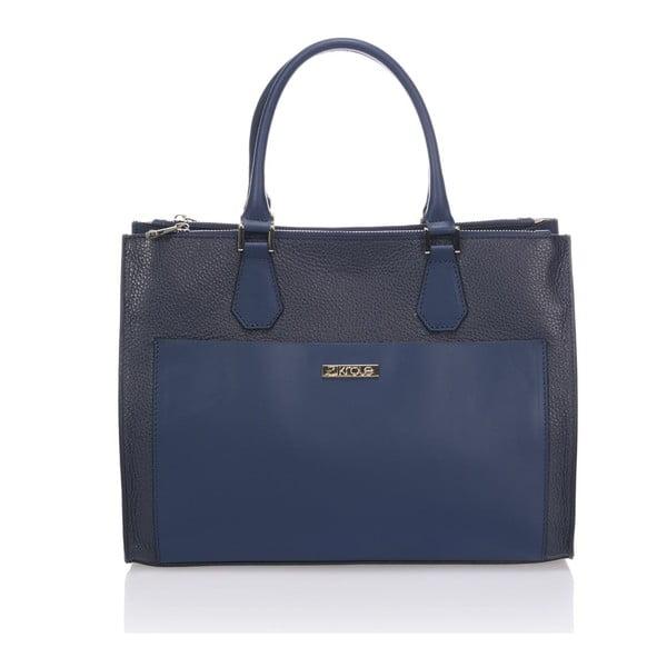 Kožená kabelka Krole Klaudie, modrá