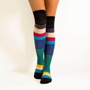 Nadkolenky Spectrum Stripes, velikost 36-40