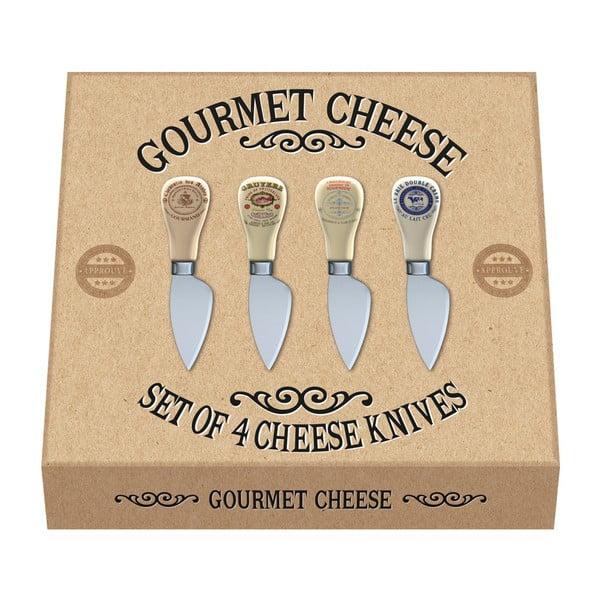 Sada 4 nožů na sýry Creative Tops Gourmet Cheese