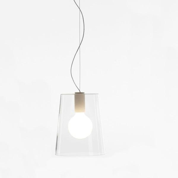 Závěsné svítidlo Pedrali L001S/A, bílé transparentní