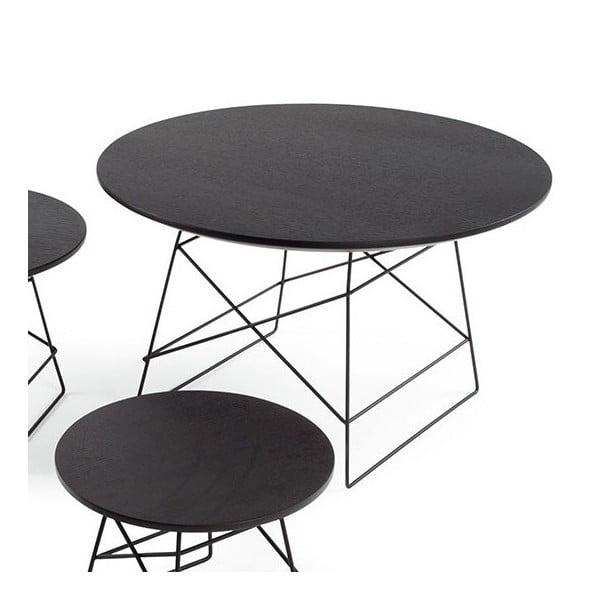 Černý odkládací stůl Innovation Grid, 70 cm