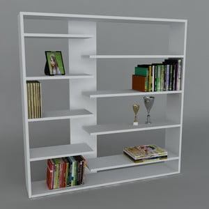 Knihovna Handy Book White, 22x125x126 cm