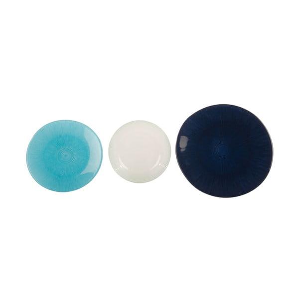 Sada 18 skleněných talířů Perla