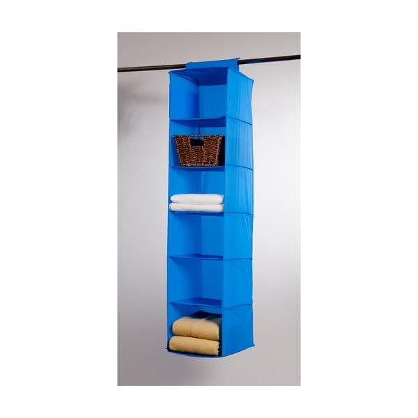 Modrý závěsný organizér s 6 přihrádkami Compactor Garment