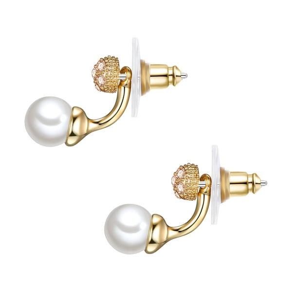 Náušnice s bílou perlou Perldesse Con, ⌀0,7cm