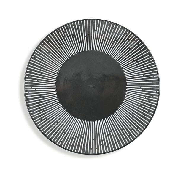 18dílná sada černého nádobí z porcelánu Villad'Este Mamba