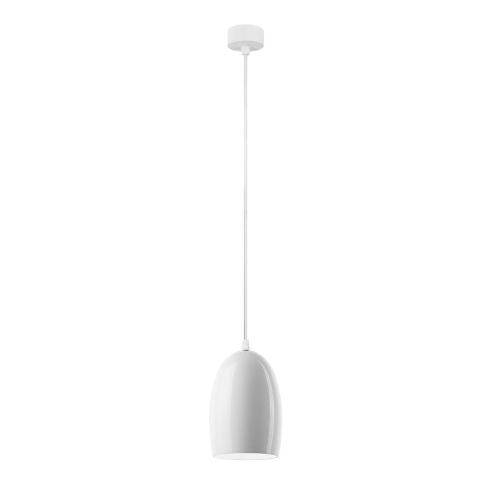 Bílé lesklé závěsné svítidlo Sotto Luce Ume