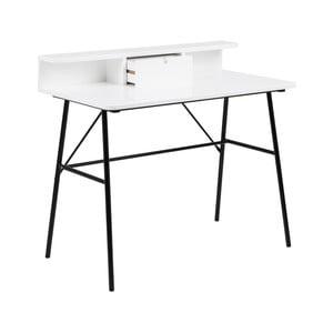 Bílý dřevěný pracovní stůl Actona Pascal