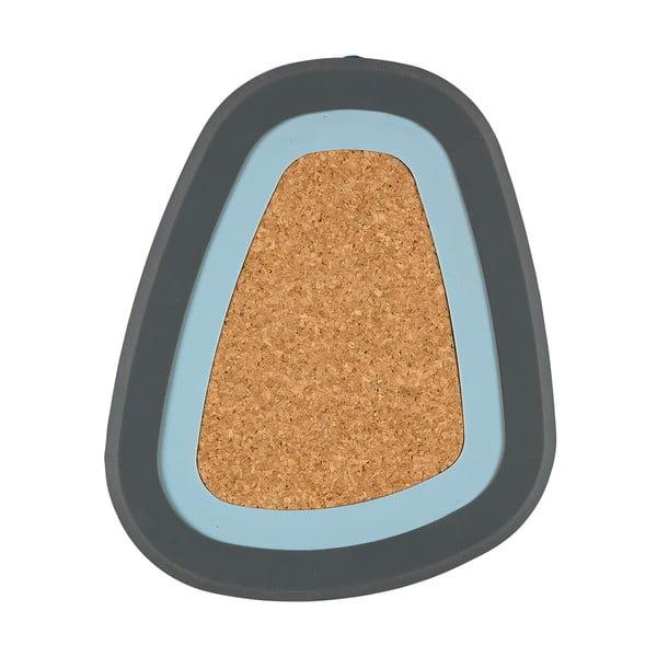 Třídílná podložka pod horké nápoje Pebble, šedá a světle modrá