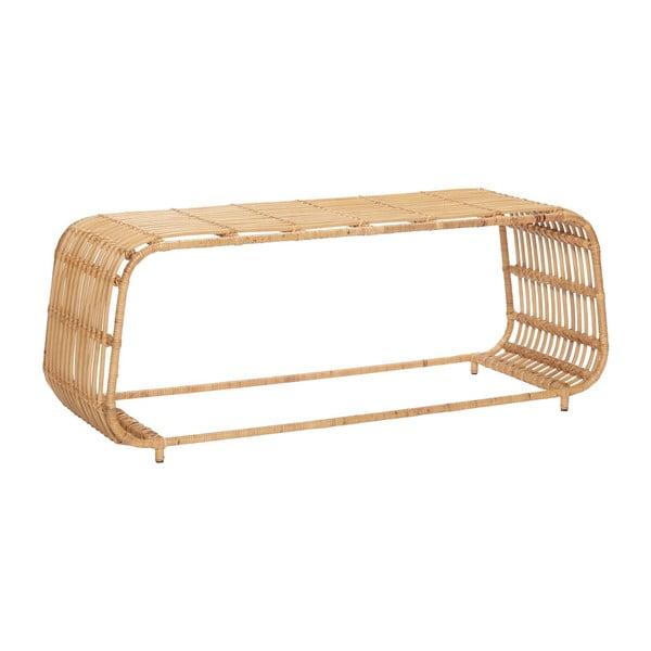 Příruční ratanový stolek Hübsch Retto
