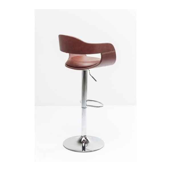 Sada 2 hnědých barových židlí Kare Design Monaco Nougat