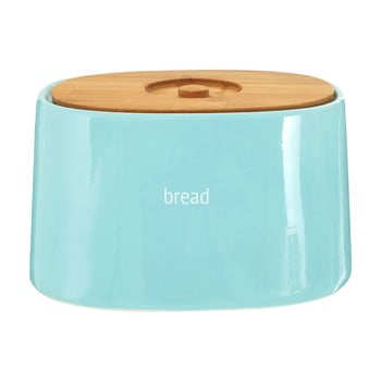 Recipient pentru pâine cu capac din lemn de bambus Premier Housewares Fletcher, 800 ml, albastru de la Premier Housewares